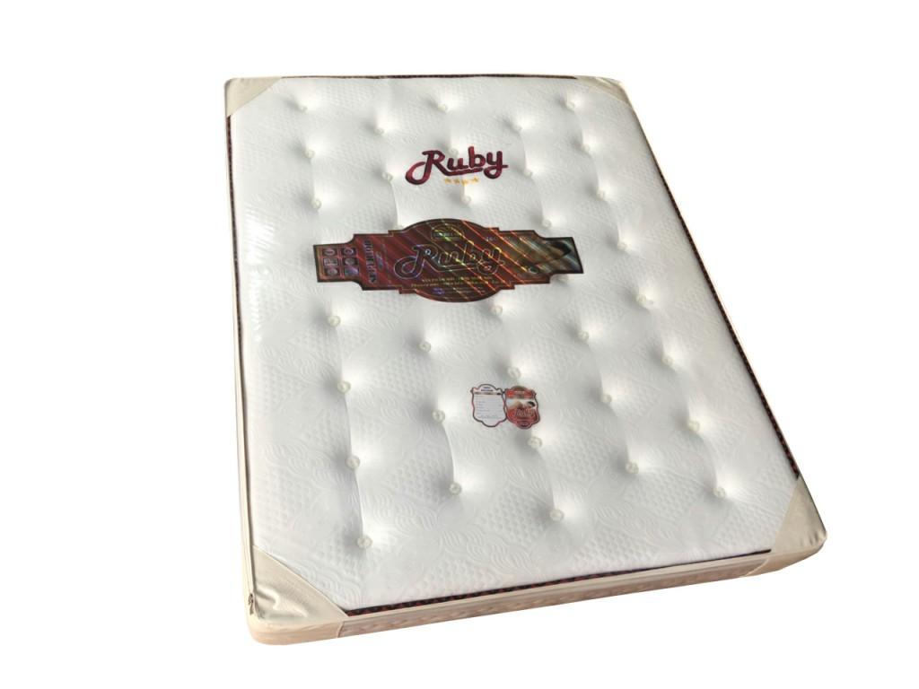 Nệm lò xo túi Ruby 2 viền vải xốp gấm khuyến mãi
